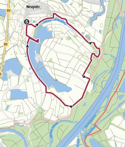 Karte / Neupotzer Fischerweg 11 Km