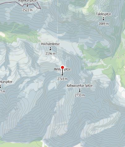 Map / Birkkarspitze ( 2749 )