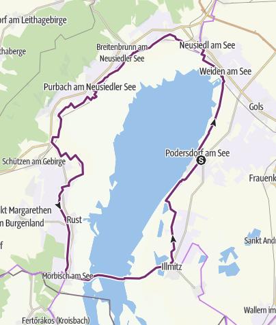 Karte / Tourenplanung am 31. August 2014