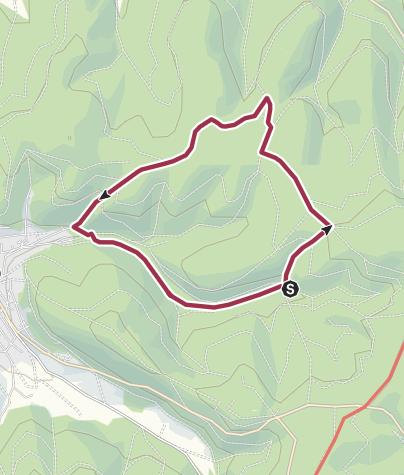 Karte / Rundweg 04 - Bildeichenweg Bad Orb