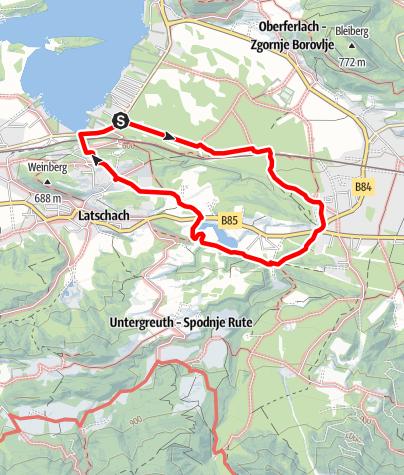 Karte / Wandern am Faaker See - Aichwaldseerundweg