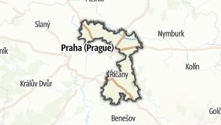 Cartina / Praha-východ