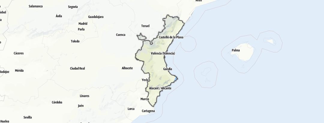 Kart / Alpin fjellklatring i Valencianische Gemeinschaft