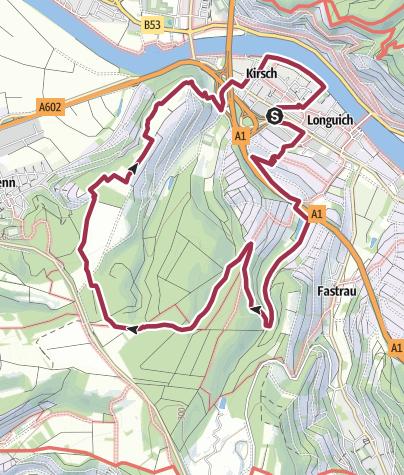 Karte / Moselsteig Seitensprung Longuicher Sauerbrunnen