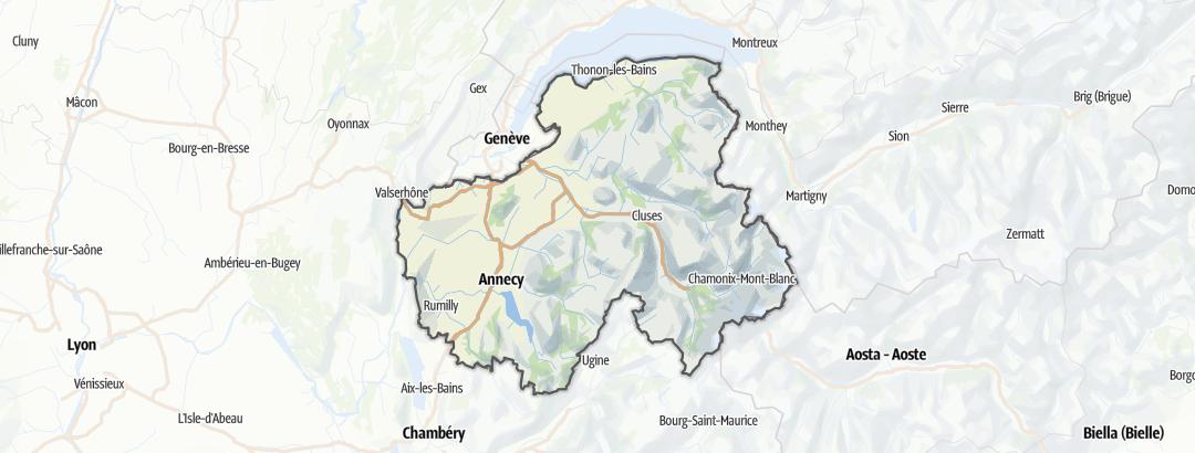 Mapa / Rutas de senderismo en Haute-Savoie