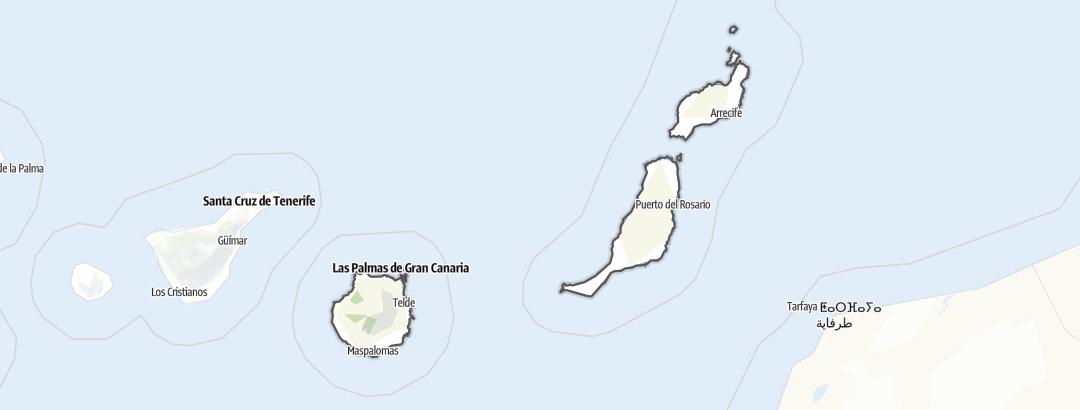 מפה / טיולים רגליים ב Las Palmas