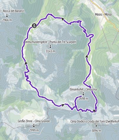 Karte / SEXTEN - TOBLACH - DREI ZINNEN - SEXTEB