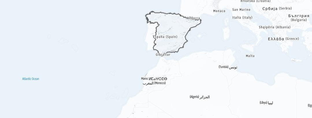 Mapa / Deportes de invierno en España