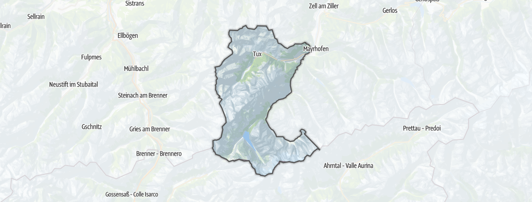 Karte / Wanderungen in Tux-Finkenberg