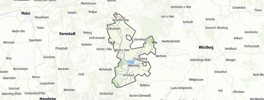 Karte / Die schönsten Nordic Walking-Touren in Churfranken