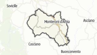 מפה / Monteroni d'Arbia