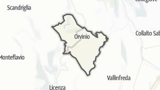 Mapa / Orvinio