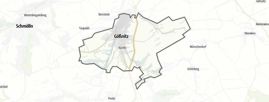 Kart / Fotturer i Gößnitz