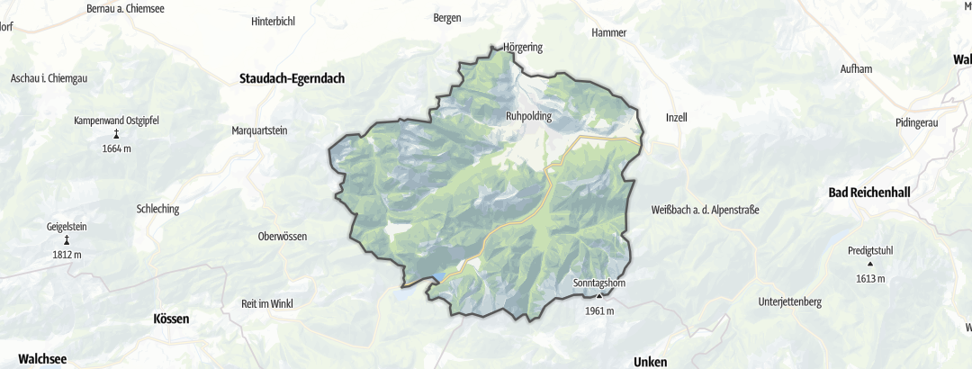 Map / Trail runs in Ruhpolding