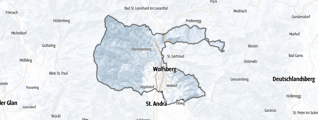 地图 / 在Wolfsberg里的雪鞋徒步