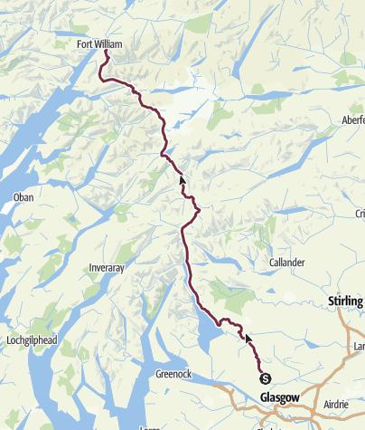 Karte / West Highland Way - Schottlands erster Fernwanderweg