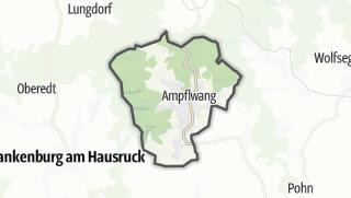 Mapa / Ampflwang im Hausruckwald
