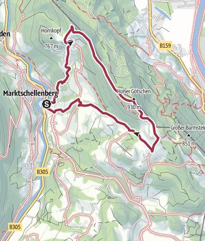Karte / Über den Hohen Götschen