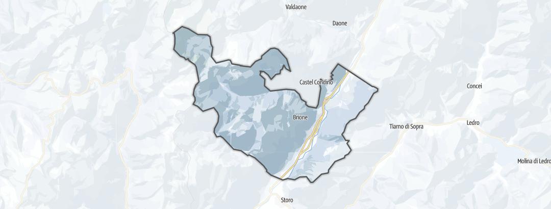 Kartta / Vapaalaskureitit kohteessa Borgo Chiese
