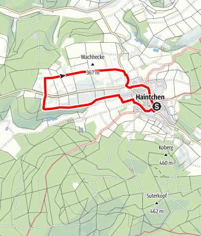 Karte / H9 Pfingstweide/Burghölle - Haintchen
