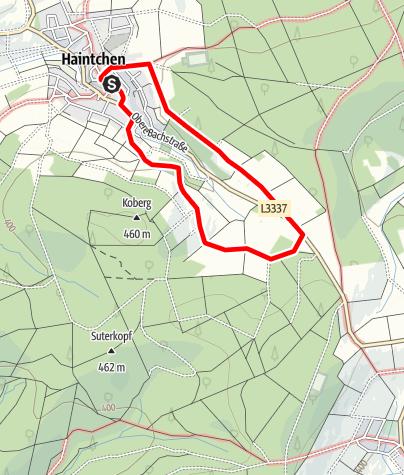 Karte / H6 Oberhain/Hasselbacher Weg - Haintchen