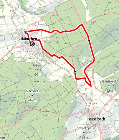 Karte / H11 Laubus/Judenpfad/Backofen - Haintchen