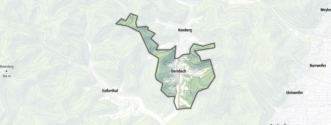 Karte / Wanderungen in Dernbach
