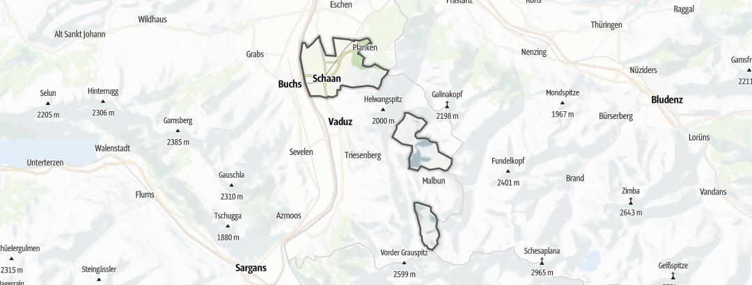 Mappa / Mangiare e bere a Schaan