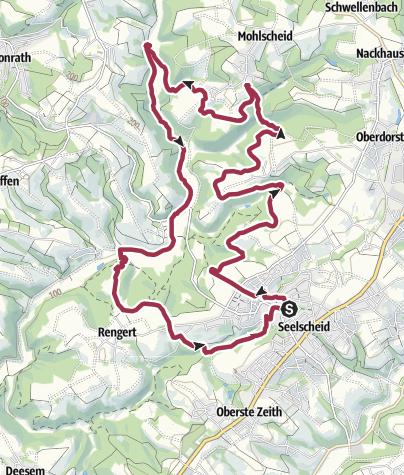 Karte / Bergischer Streifzug Nr. 19 - Kräuterweg
