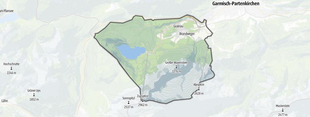 Karte / Nordic Walking Touren in Grainau