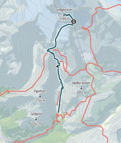 Karte / Grossglockner (3797) Normalweg