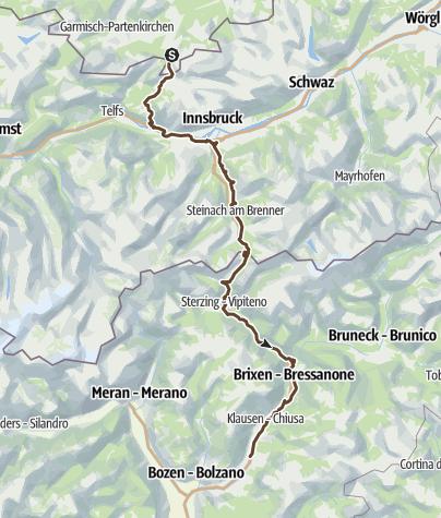 Karte / Alpencross leicht