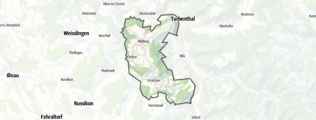 Karte / Wanderungen in Wildberg