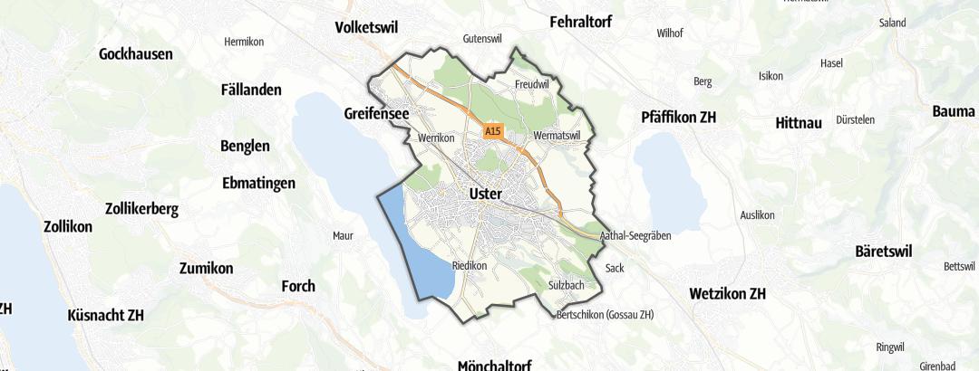 Mapa / Trilhas de caminhada em Uster