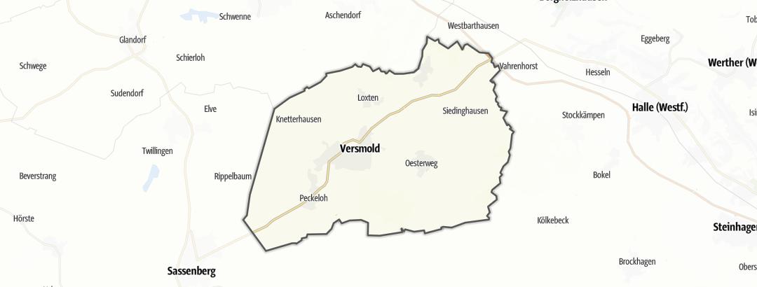Térkép / Kerékpártúra,  Versmold területén
