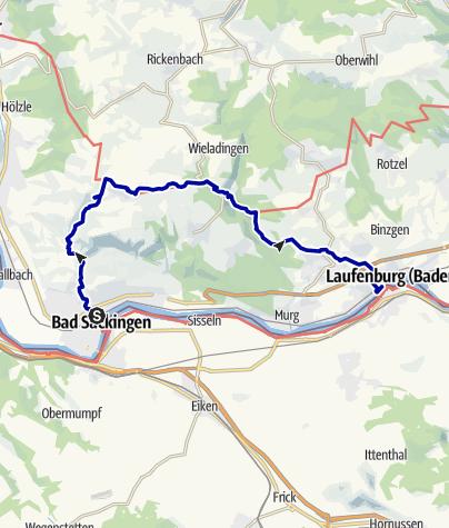 Map / Von Bad Säckingen zur Ruine Wieladingen
