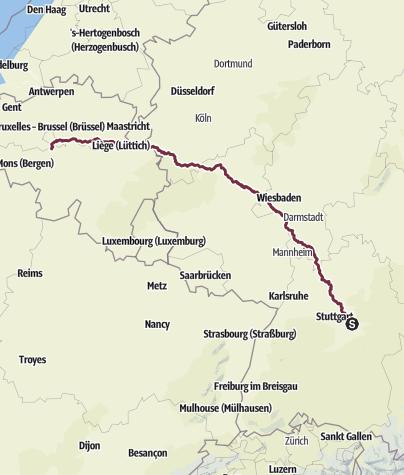 Karte / Tourenplanung am 3. Oktober 2014