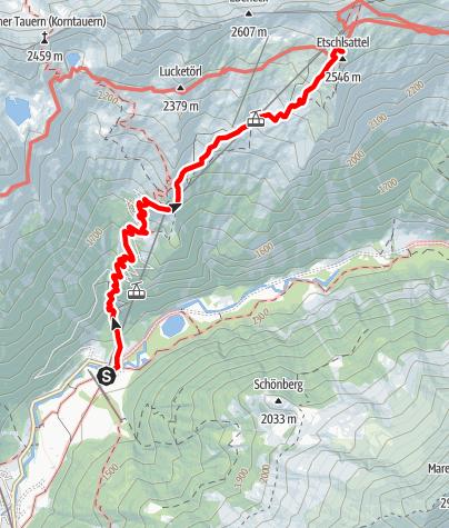 Karte / Hannoverhaus (2566m)  direkter Aufstieg
