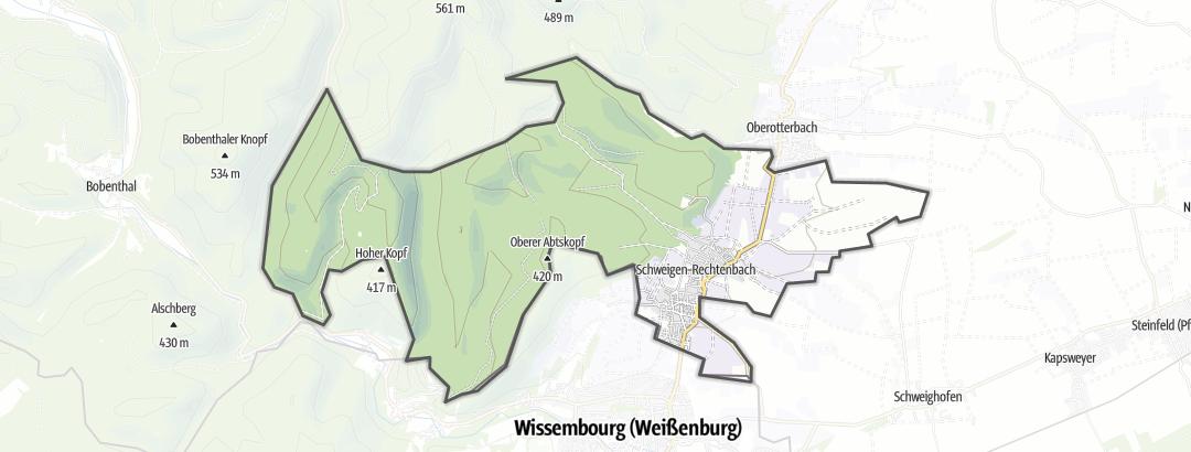 Karte / Wanderungen in Schweigen-Rechtenbach