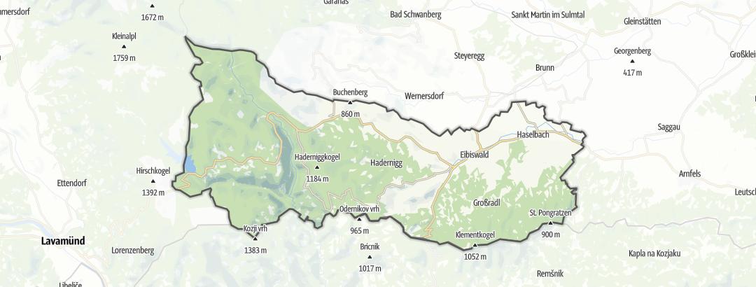 Karte / MTB-Touren in Eibiswald