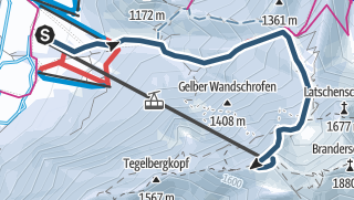 Karte / Skimo Challenge - Tegelberg Vertical