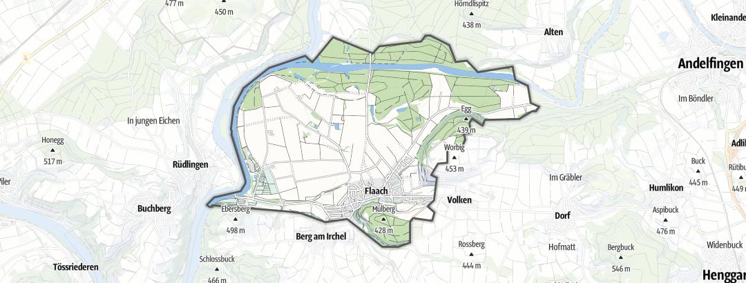 Kart / Fotturer i Flaach