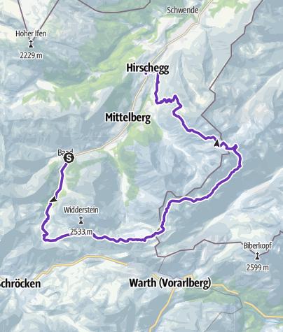 Karte / Walser Trail
