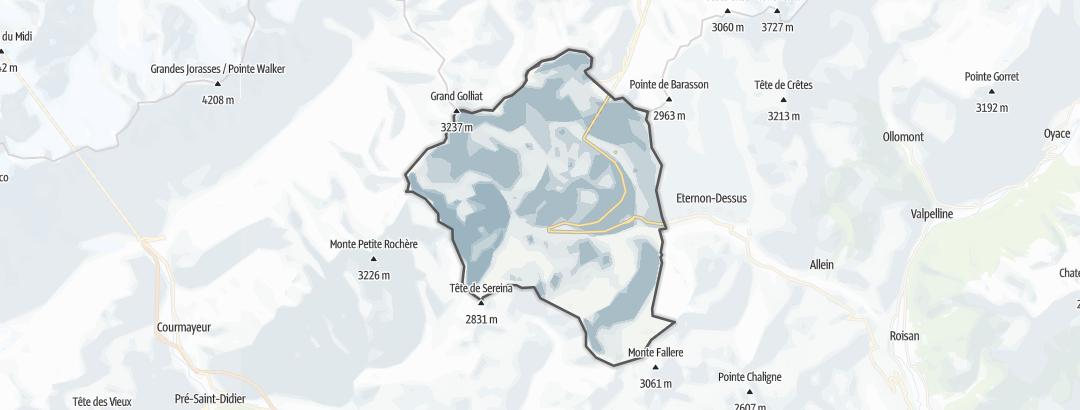 Kartta / Vuoristovaellusreitit kohteessa Saint-Rhemy-En-Bosses