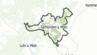 Cartina / Gemünden am Main