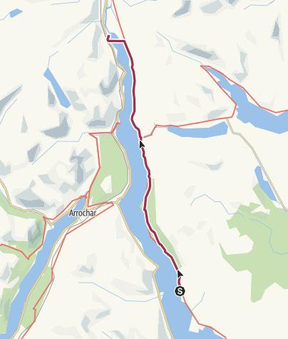 Karte / West Highland Way 5,6 Rowardennan - Ardlui