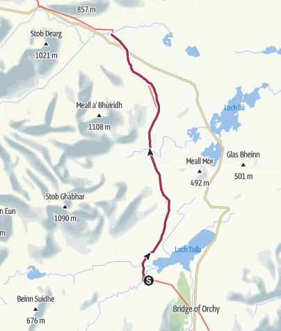 Karte / West Highland Way 10,11 Inveroran - Kingshouse