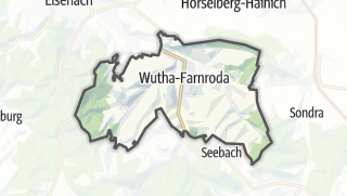 Mapa / Wutha-Farnroda
