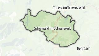 地图 / Schönwald im Schwarzwald