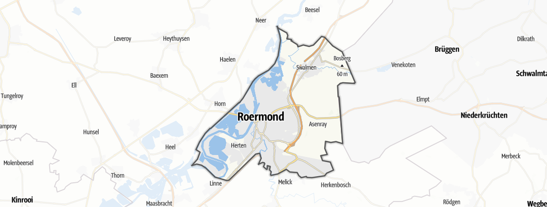 Karte / Radtouren in Roermond